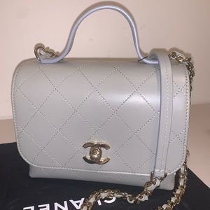 Chanel Flap with Top Handle Shoulder Bag